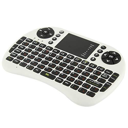 Teclados MJYGV, Mice y Dispositivos de Entrada OKB-500-RF 2.4GHz Mini Teclado inalámbrico Combo con Receptor TouchPad & USB, Teclado en inglés/Teclado Ruso (Blanco) MJ (Color : Black)