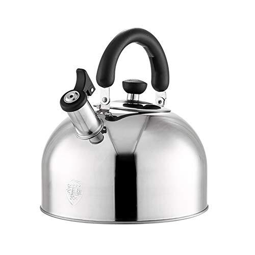 Inductie RVS Fluitketel met ergonomisch handvat Huishoudelijke Inductie Kookplaat Gas Fornuis Universele Ketels 6 liter.