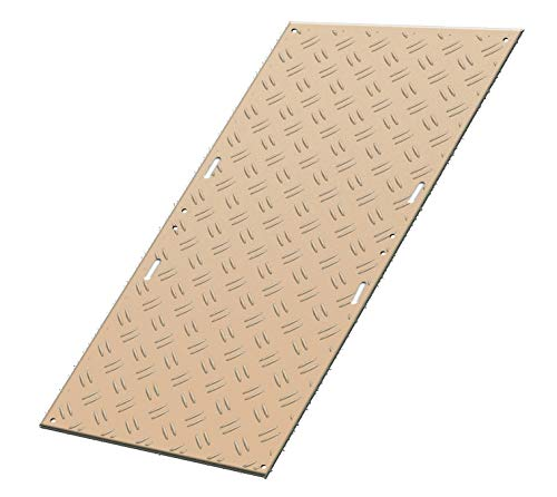 強化型プラスチック敷板こうじばん 4×8山型/クロス(ベージュ) 超硬質 120トン車対応 高密度ポリエチレン(バージン材)使用 工事現場 地盤養生 樹脂敷板 プラ敷き
