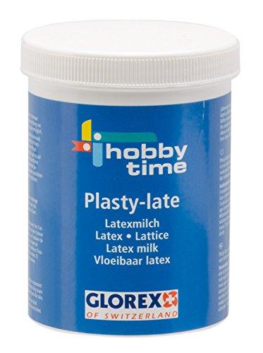 Glorex 6 2305 00 - Plasty-late Latexmilch, 250 ml, lufthärtende, natürliche Formbaumasse auf 1-Komponentenwasserbasis