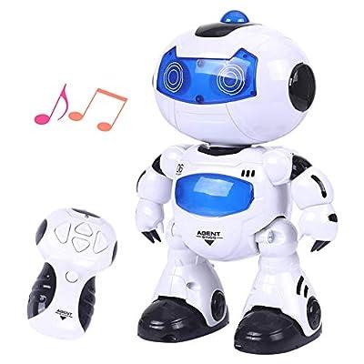 LNLJ RC Robot for Kids, Singing, Lighting, Dancing, Walking, Nice Cool Humanoid Robot for Kids Gift