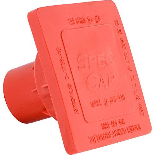 Premium OSHA REBAR CAPS (100 Pack) SPEC-Cap Impalement REBAR Cover - FITS REBAR #3 - #8. Box of 100
