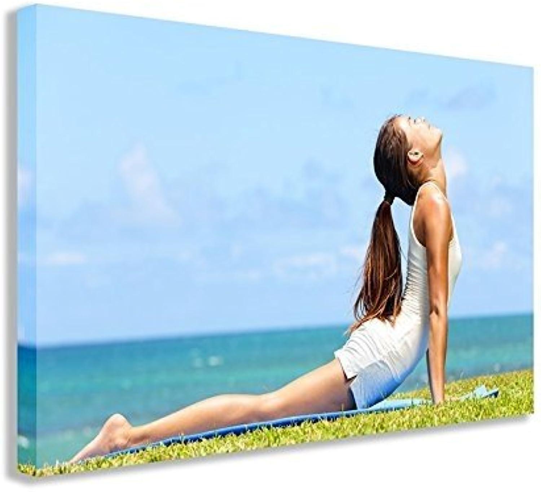 liquidación hasta el 70% Yoga Yoga Yoga girl lienzo (30 X 18  75x 45cm)  tiempo libre