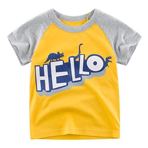 Baywell Baywell Kinder Baby Jungen Mädchen T-Shirt Sommer Baumwolle Cartoon Brief Muster Kleinkind T-Shirt Tops Bluse Kurzarm Lässige T-Shirts