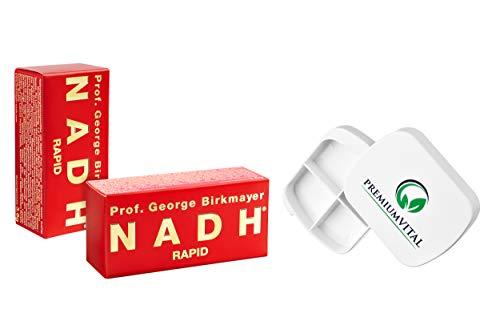 Prof. George Birkmayer NADH – Rapid (20 mg NADH/Coenzym 1 pro Tablette) - (2x 60 Tabletten) - Vorteilsangebot + GRATIS Pillendose von Premiumvital
