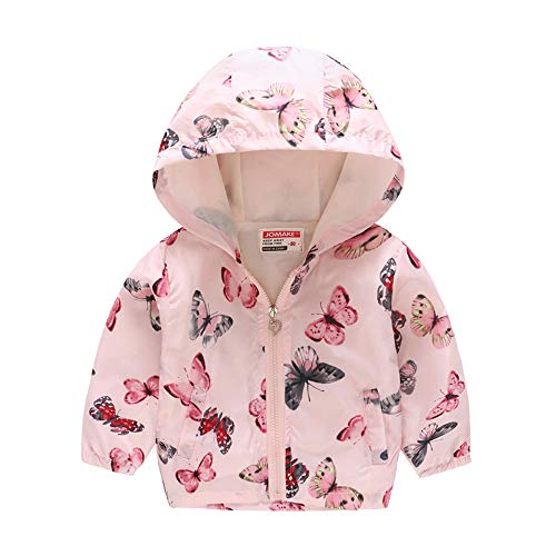 Kids Jackets Girls Boys Cartoon Zipper Coat Jacket for Toddler Birthday Christmas Clothes 2T 3T Pink(Style 03,110)