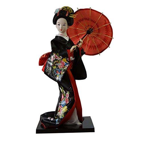 Muñecas japonesas Geisha Girl Geiko Kimono muñeca decoración del hogar Colección de arte, # 16