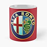 Lsjuee L A Italy F Logo F1 Alfa Car Racing Romeo Migliore tazza da caffè in ceramica da 11 once