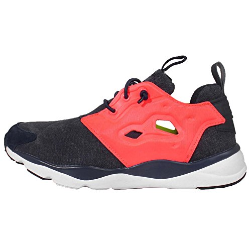 Reebok Furylite Asymmetrical Womens Running Trainers Sneakers (UK 4 US 6.5 EU 37, Navy Yellow Pink White V68676)