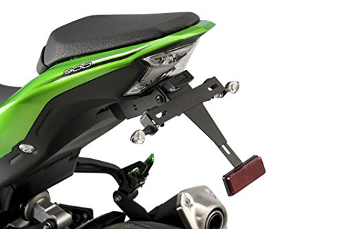 Puig Suport de Plaque 9388N Noir pour Kawasaki Z900 17'-18'