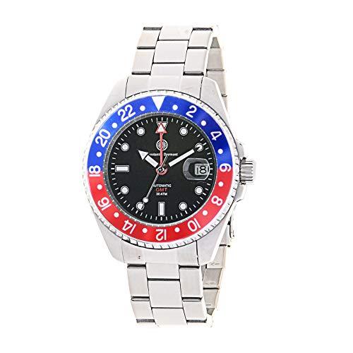 Constantin Durmont Unisex Erwachsene Analog Automatik Uhr mit Edelstahl Armband Cavity Automatic GMT...
