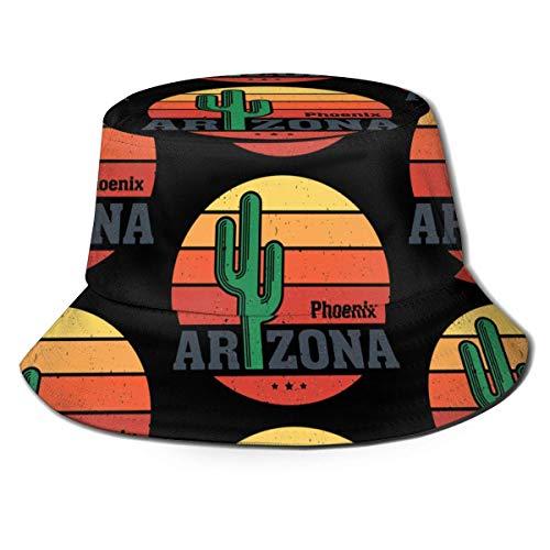 Bucket Hat Arizona Saguaro Cactus Bucket Hat Unisex Sun Hat Impreso Fisherman Packable Travel Hat Fashion Outdoor Hat