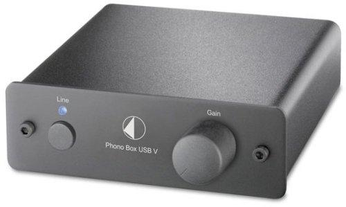 Pro-Ject Phono Box USB V voorversterker zwart