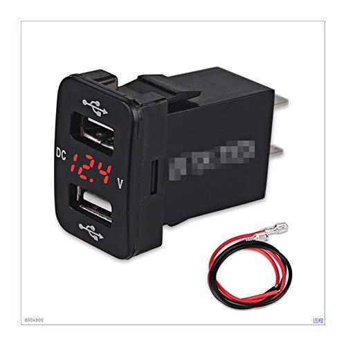 MeiKeL Cargador de coche con fusible con fusible para TOYOTA 5V 4.2A Cargador de cargador de cargador de carga Ajuste para teléfono LED Meter Voltímetro Voltímetro Verde rojo ( Color Name : Red )
