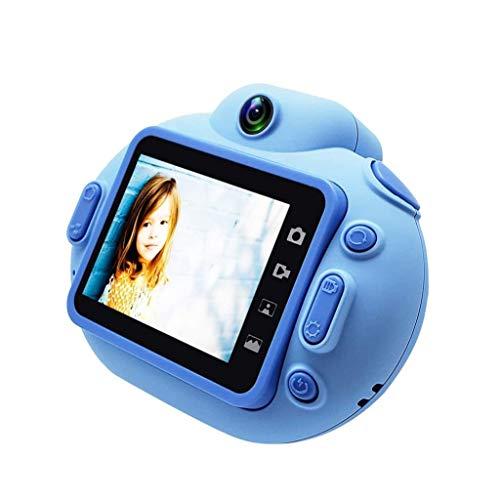 QCHEA La cámara de 1080P niños, 24MP Mini Digital con Doble Objetivo de la cámara Mini cámara de vídeo Mini Recargable Deportes Regalos de cámaras for Niños Niños Niñas (Color : A)