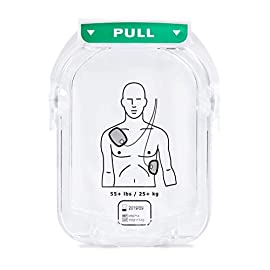 """Philips heartstart aed defibrillator adult smart pads cartridge, model:m5071a 1 cartridge can be easily snapped into the onsite aed, making replacing your electrodes easier than ever defibrillation pads for patients 8 years of age and older convenient """"pull"""" handle makes access easy and time efficient"""