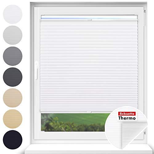 Schuette® Estor plisado con agujeros para atornillar. Colección térmica: White Day (blanco)....