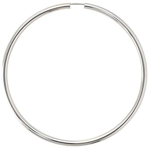 JOBO Damen-Creolen groß aus 925 Silber Durchmesser 70 mm