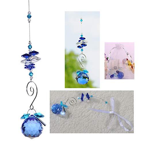 HampD 30mm Crystal Ball Chandelier Prism Ornaments Hanging Suncatcher Blue