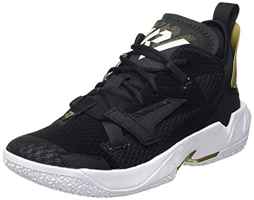 Nike Jordan Why Not ZER0.4, Scarpe da Basket Uomo, Black/White-Mtlc Gold, 46 EU