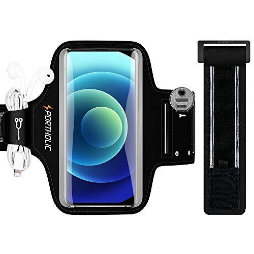 PORTHOLIC Brazalete Deportivo para Correr, Brazalete Movil Running para iPhone 11 Pro Max/X/XS/8p/7p/6p, Galaxy S20/10+/9+/8+, Huawei P40/30/20 Lite, Xiaomi Redmi mi 9 etc, 6,9'