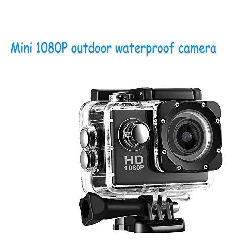 Zoiseo Action Cam, 90 Grad A + Hochauflösendes Superweitwinkelobjektiv, Eingebauter G-Sensor, Mini 1080P wasserdichte Außenkamera