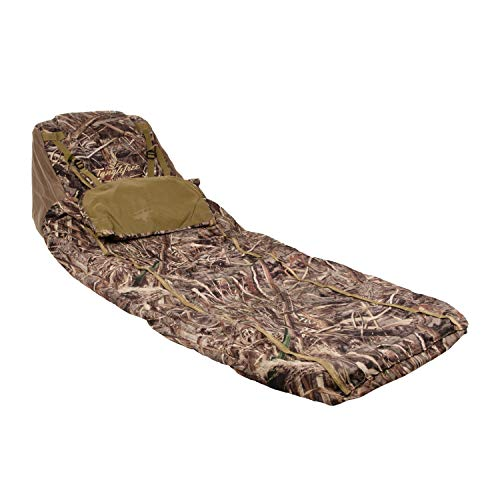 Ground Ghost Layout Blind - 80' Long 25' Wide 15' Tall - 8 lbs - 600D Polyester Material- Realtree Max5. Excellent Lightweight Cover.