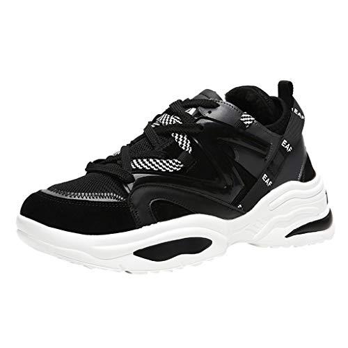Langschaftstiefel Sneaker Low-Top High-Top Turnschuhe Laufschuhe Sportschuhe Wanderschuhe Schuhe Basketballschuhe Slipper Hallenschuhe Handballschuhe (40 EU,Plus Samt-Schwarz)