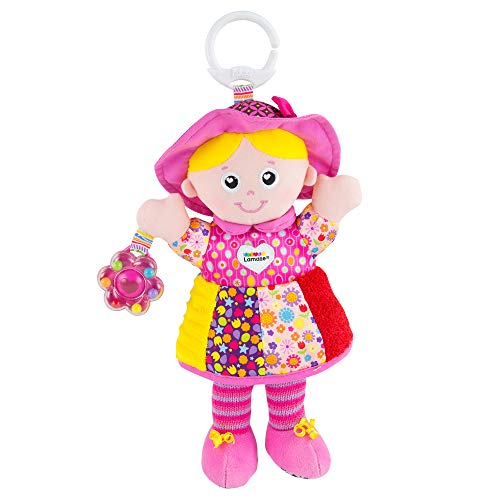 LAMAZE My Friend Emily, Clip on Pram and Pushchair Newborn Baby Toy, Sensory Toy for Babies Boys and Girls from 0 to 6 Months