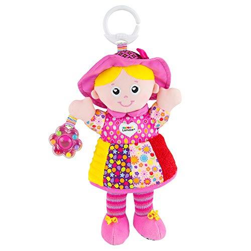"""Lamaze Baby Spielzeug \""""Freundin Emily\"""" Clip & Go, das hochwertige Kleinkindspielzeug. Der quietschbunte Greifling fördert Motorik und ist das perfekte Kinderwagenspielzeug und Kuscheltier für Babys"""