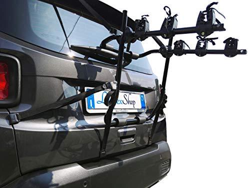Lupex Shop PORTABICI Universale SPORTELLO Posteriore da Auto per Trasporto 3 Bici Insieme