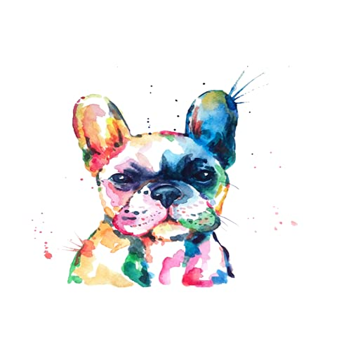 Diamond Painting Frenchie French Bulldog Original Watercolor of Dog Funny Happy12x16inchset Crystal Embroidery Painting Cross Stitch Crafts Wall Hanging Decoration ZJL