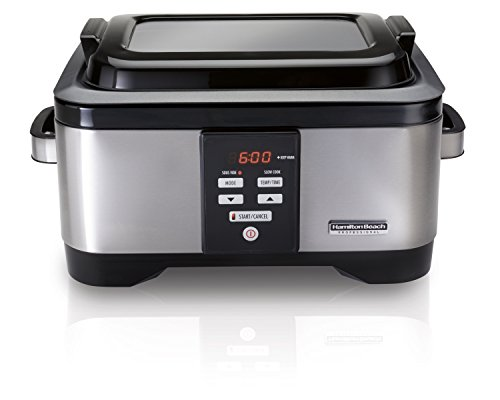 Hamilton Beach Professional Sous Vide Water Oven & Slow Cooker, 6 Quart Programmable, Stainless...