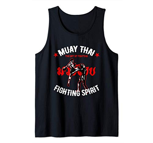 El arte de la lucha del Muay Thai Kickboxing Retro MMA Gym Camiseta sin Mangas
