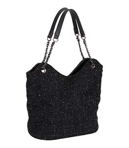 SIX Schwarzer Bag mit funkelnden Webfäden (726-998)