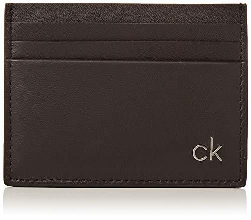 Calvin Klein Smooth Ck Cardholder - Porta carte di credito Uomo, Nero (Black), 0.1x0.1x0.1 cm (B x H T)