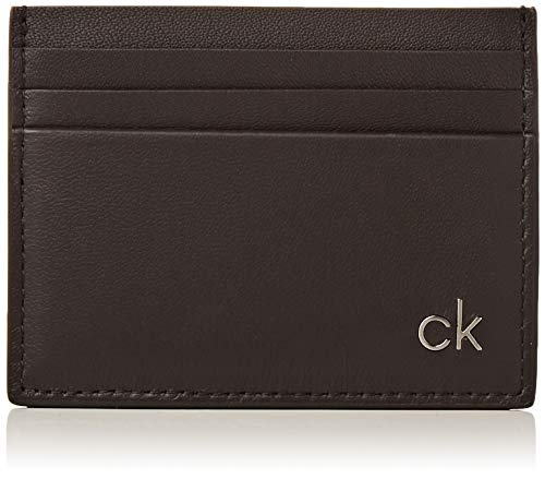 Calvin Klein - Smooth CK Cardholder, Tarjeteros Hombre, Negro (Black), 0.1x0.1x0.1 cm (B x H T)