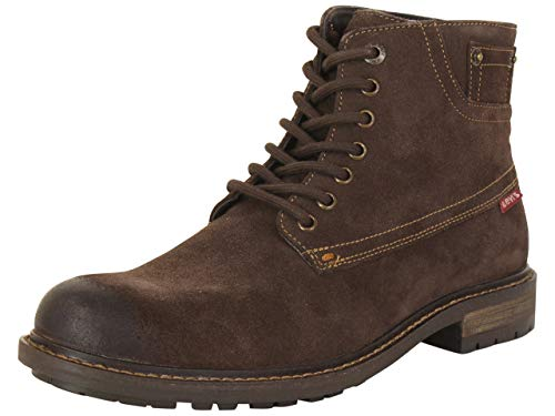 Levi's Mens Sheffield Suede Leather Fashion Casual Boot, Brown, 8 M