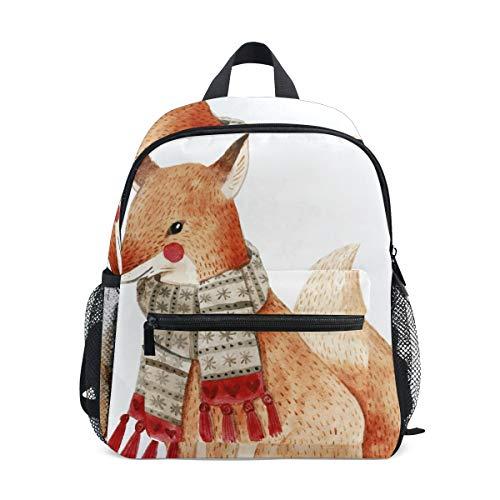 FANTAZIO rugzak basisschool een vos met sjaal boekentas