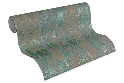 A.S. Création Vliestapete Havanna Tapete in Vintage Optik 10,05 m x 0,53 m braun grün metallic Made in Germany 326512 32651-2
