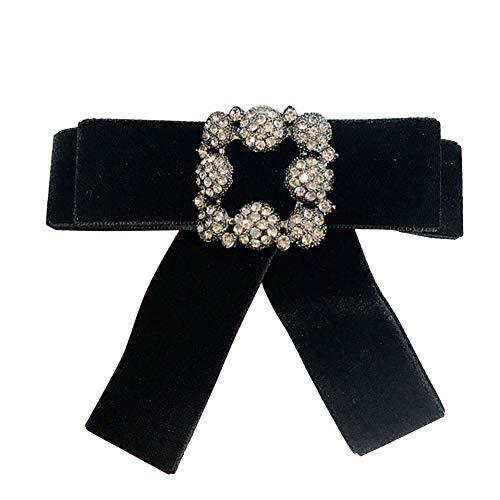 Demarkt mode strik broche strikbroche speldje pin zijdeband satijn fluweel stof voor dames kleding, pak accessoires