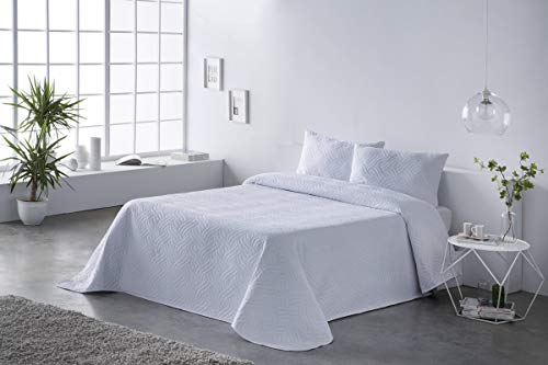 Colcha bouti Lisa Color Blanco Cama 180 cm