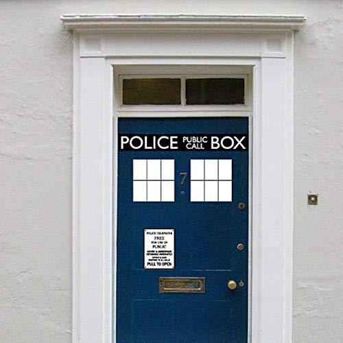 Atiehua Wandtattoos Fashion Cool Box Tür Aufkleber Aufkleber, Dr.Who Doctor Style Für Tür- Und Kühlschrankdekoration