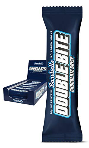 Barebells Protein Bar | Double Bite Chocolate Crisp 12 x 55g | High Protein Low Carb Low Sugar | 20g of Protein in Every 55g Bar | Delicious Indulgent Protein Bars for Muscle Performance & Recovery