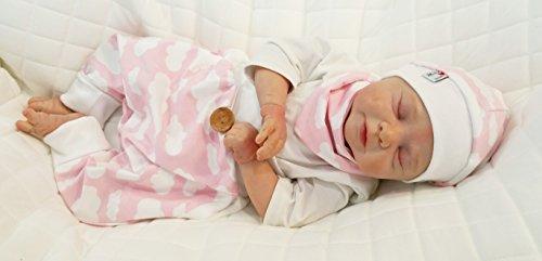 Atelier MiaMia - Pumphose oder Set Baby Kind von 50, 56, 62, 68, 74, 80, 86, 92, Designer Babyhose Set Limitiert !! rosa Wolken