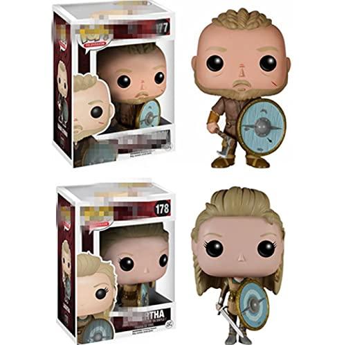 2 Pièces Pop Vikings Films SérieRagnarLothbrok#177Lagertha#178 Figurine...