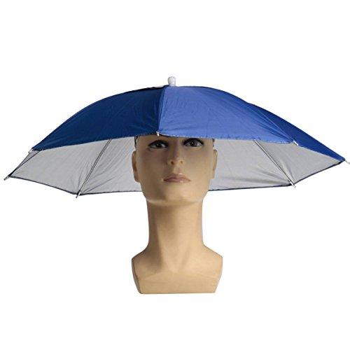 ELEGIANT Faltbare Sonnenschirm Regenschirm Hut Regenhut Sonnenhut Sport Angeln Camping Mütze Kopfbedeckung Farbe zufällig