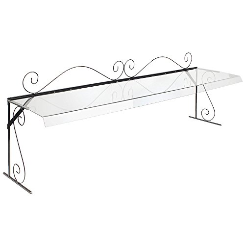 Cal-Mil 710-4 Glacier Portable Buffet Sneeze Guards, Acrylic, 12.5' Length x 48' Width x 18' Height, Clear