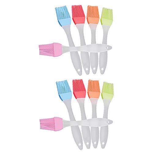 H HILABEE 10x Cepillo de Silicona para Barbacoa, Aceite para Hornear, Pastel, Pastelería, Crema, Cepillo de Temperatura
