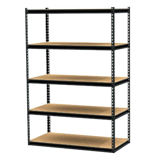 Gorilla Rack GRZ6-4824-5PCB 48 by 24 by 72-Inch Shelving Unit with 5-shelf, Black